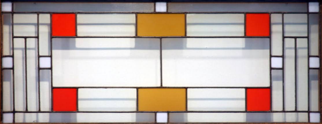 Coonley Playhouse Window  Photographer unknown Frank Lloyd Wright Stained Glass Circles